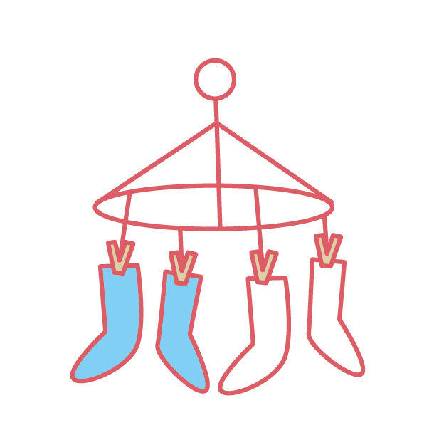 靴下 干し方